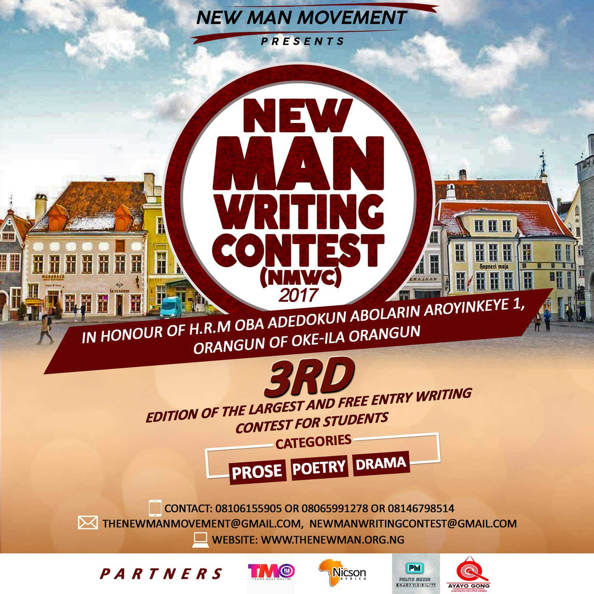 The New Man Writing Contest 2018