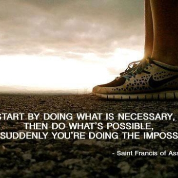 the impossible, one step at a time