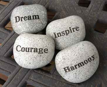 dream, courage, inspire, harmony