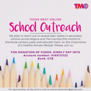 School outreach and pad donations