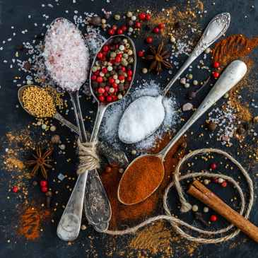 spices, salt