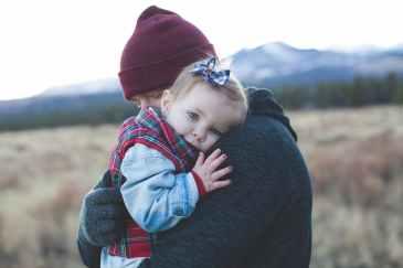 hug, child
