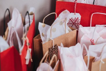 christmas, bags, money