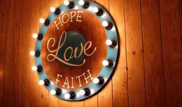 hope, love, faith