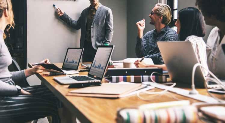 team, speak, teamwork, office, success, laptop