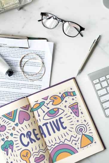 creativity, idea, planning, note, writing