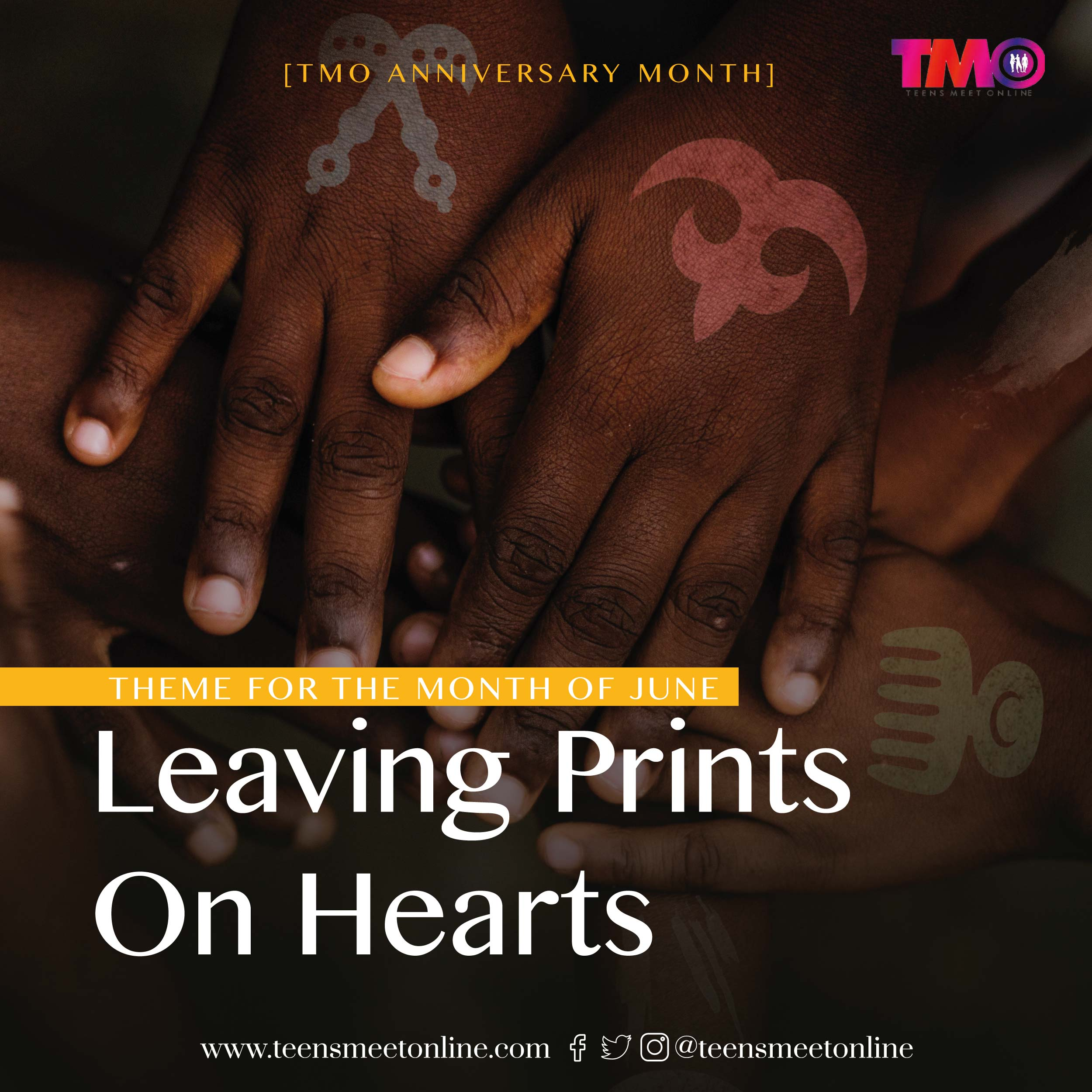 Leaving Prints On hearts. TMO Theme of the month for June