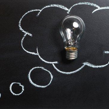 idea, think, bulb